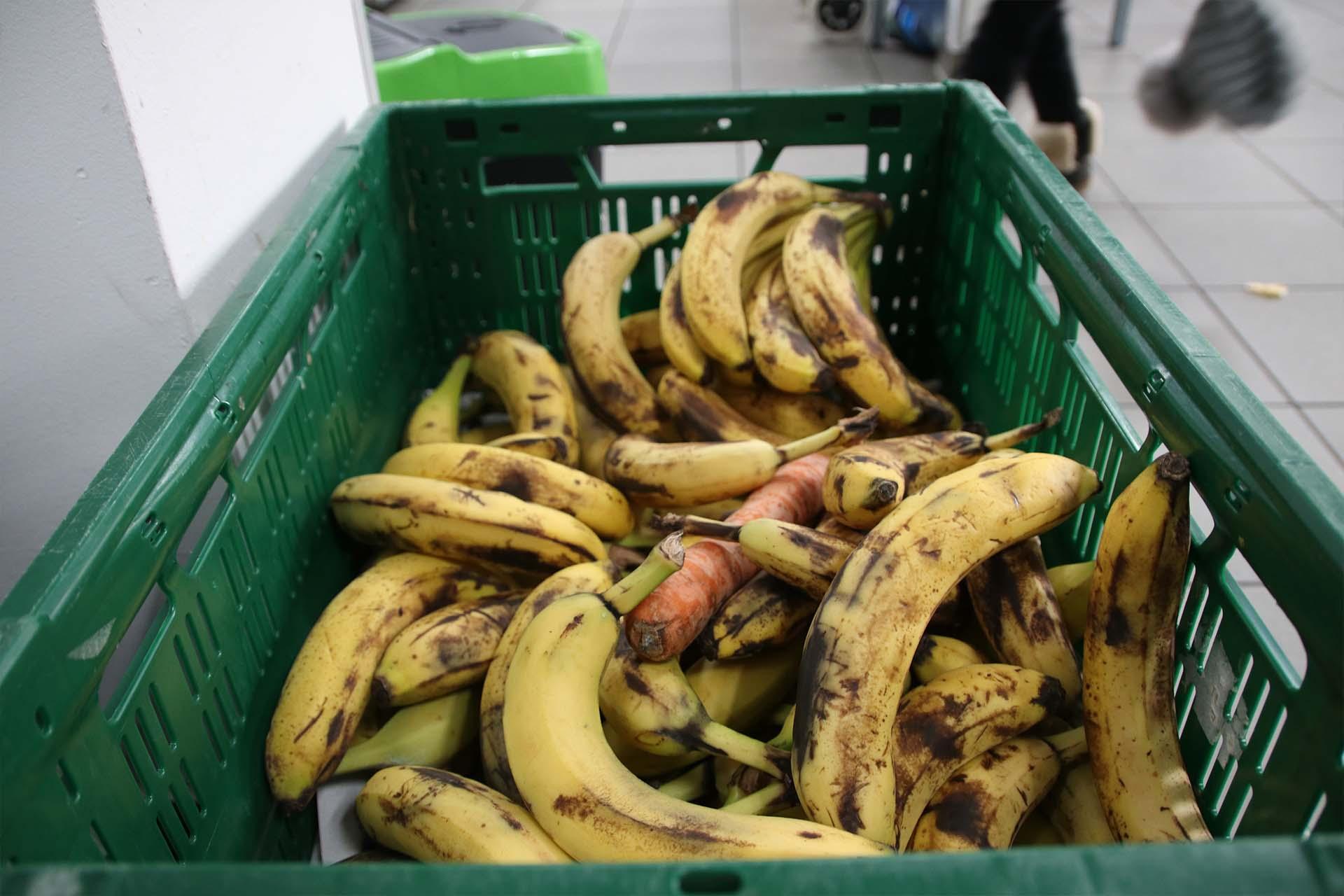 Bananenangebot bei der Tafel