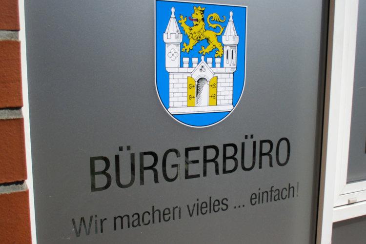 Schriftzug Bürgerbüro Wunstorf
