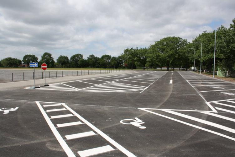 Der neue Parkplatz
