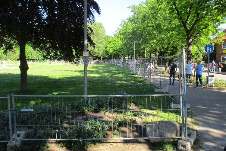 Gesperrter Kurpark Steinhude