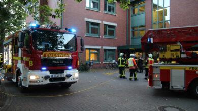 Bild von Feuerwehr löscht Brand in Psychiatrie