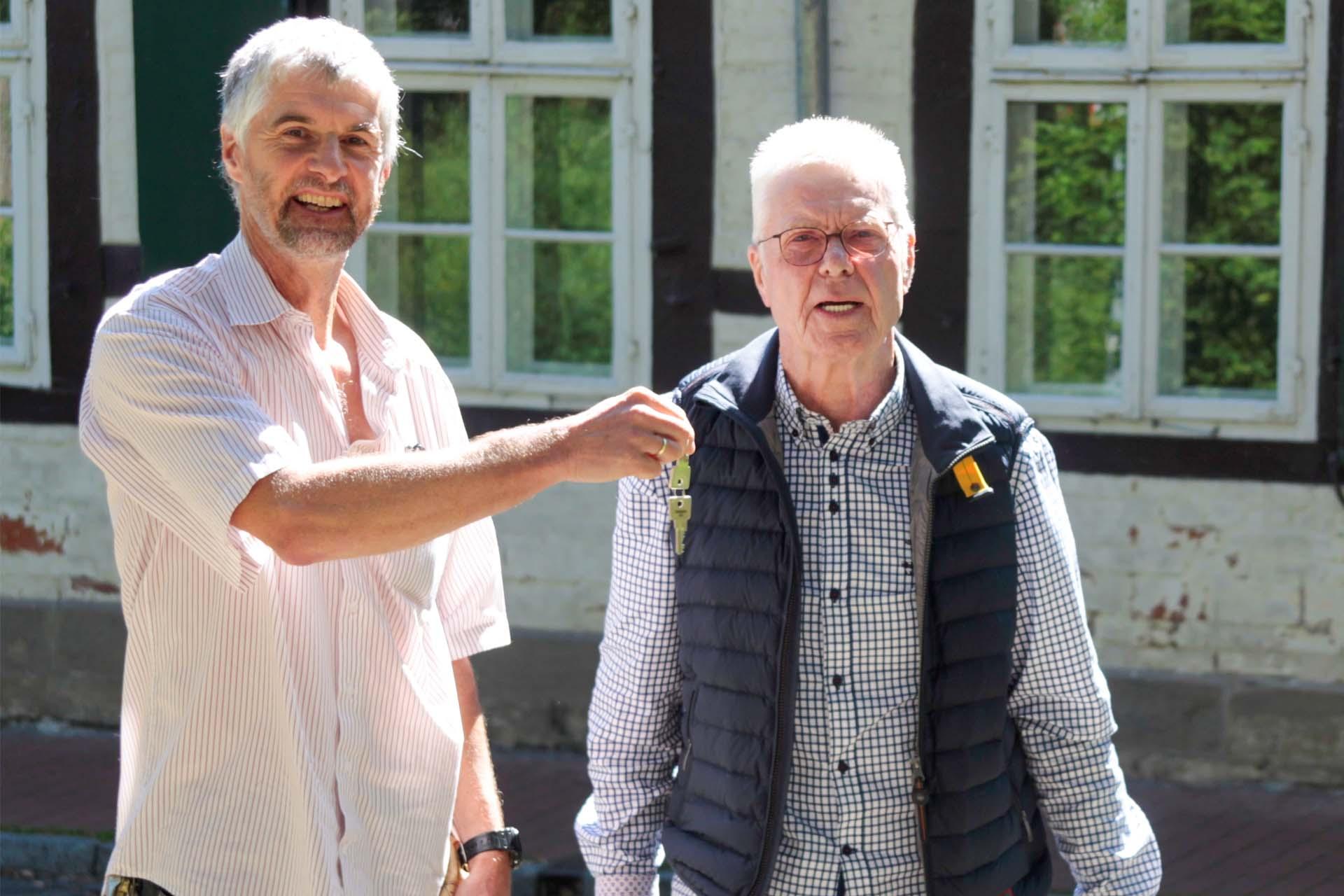 Pastor Thomas Gleitz und Investor Gerd Tiedemann