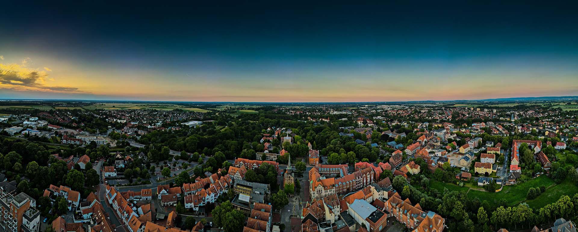 Wunstorfer Innenstadt von oben | Foto: fabi