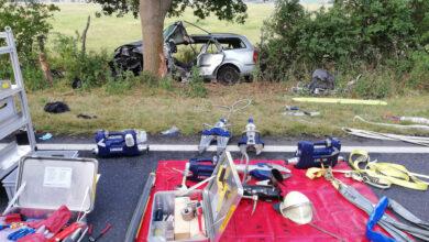 Bild von Autofahrer stirbt auf der B6