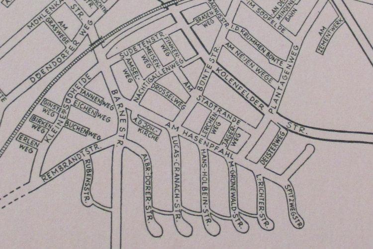 Die Barne auf einer zeitgenössischen Karte