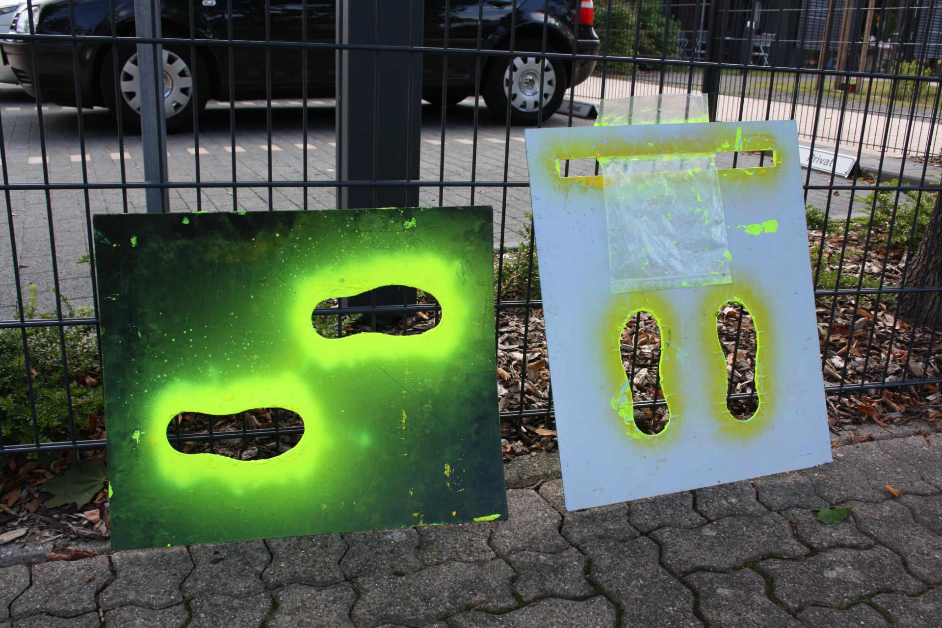 Fußspurenmarkierung