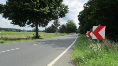 Bild von Straßenbauarbeiten auf der B442 in und nach Haste