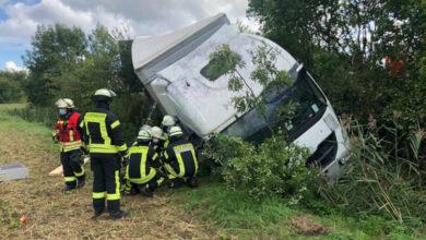 Bild von Lastwagenunfall auf der A2