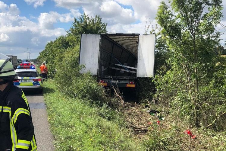 Verunfallter Lastwagen