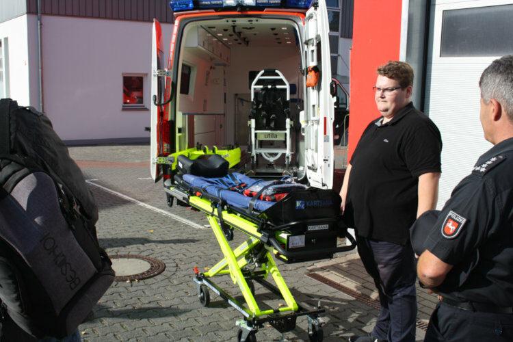 Vorstellung Rettungswagentrage