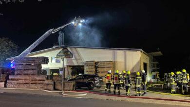 Bild von Sägewerkbrand in Auhagen