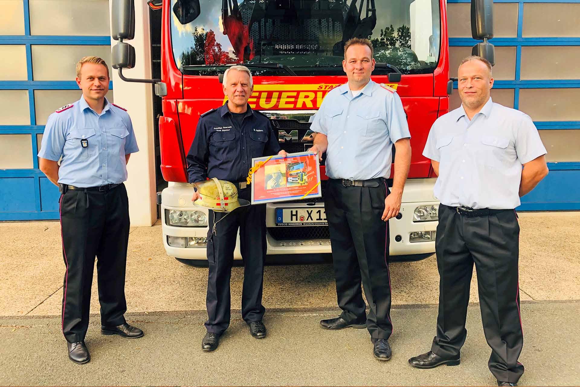 Verabschiedung von Bernd Heidorn in die Feuerwehrrente
