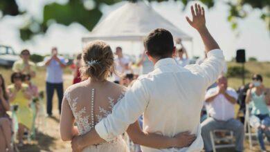 Bild von Hochzeit unter freiem Himmel
