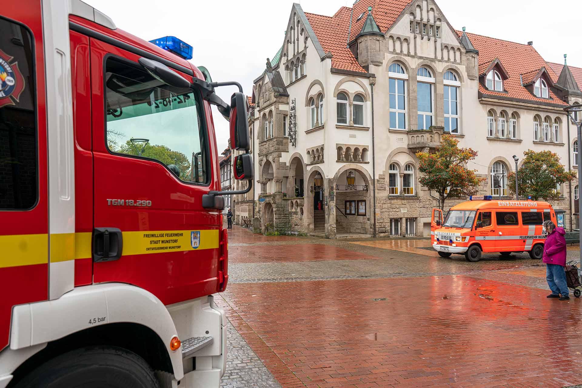 Feuer im Rathaus Wunstorf