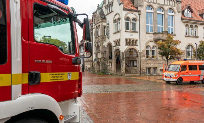 Feueralarm Rathaus