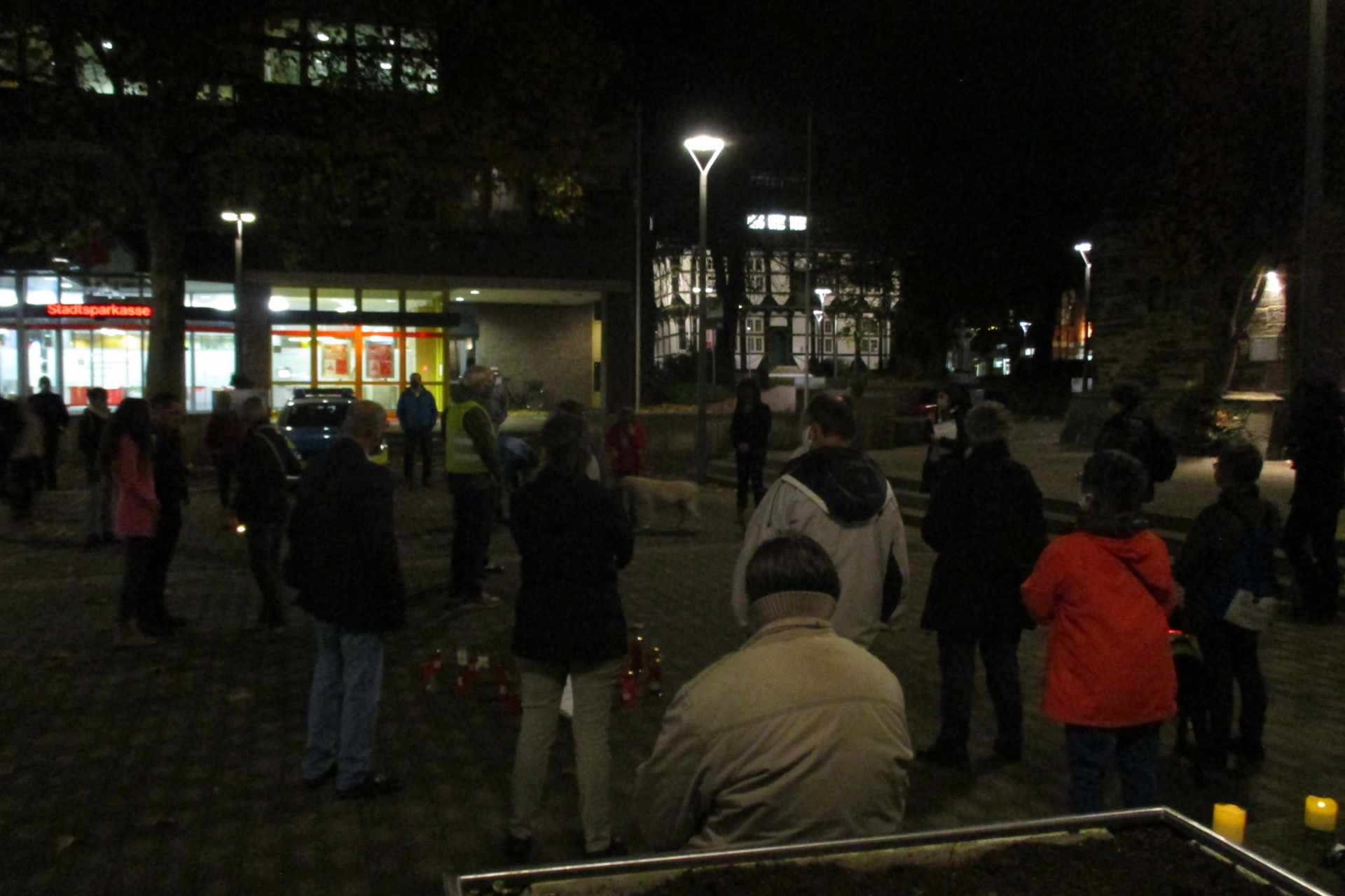 Bild von Anti-Coronamaßnahmen-Demo in Wunstorf