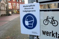 Maskenpflicht in der Wunstorfer Fußgängerzone