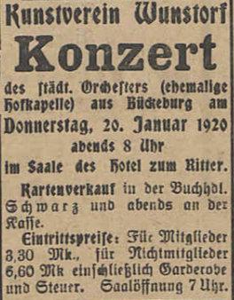 Konzertanzeige 1921