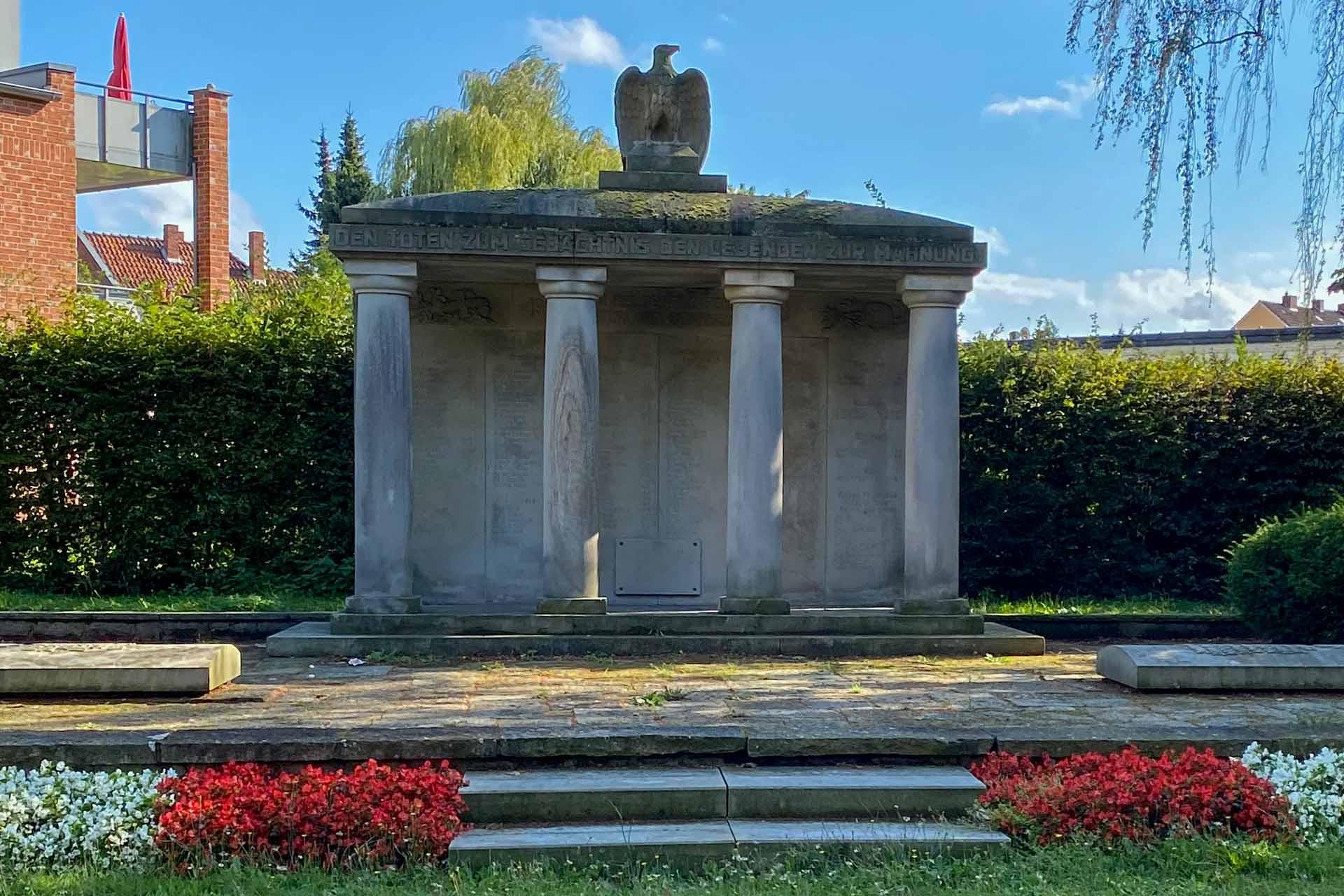 Kriegerdenkmal an der Hindenburgstraße in Wunstorf