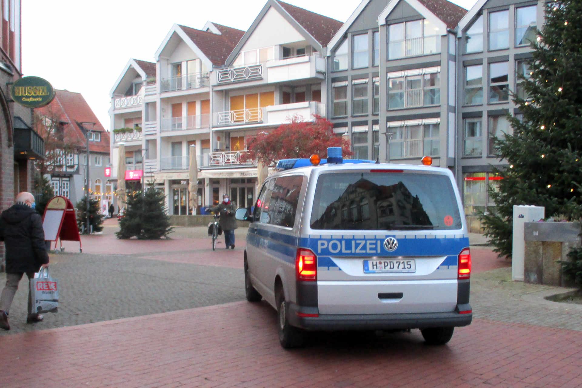 Polizeikontrolle Fußgängerzone