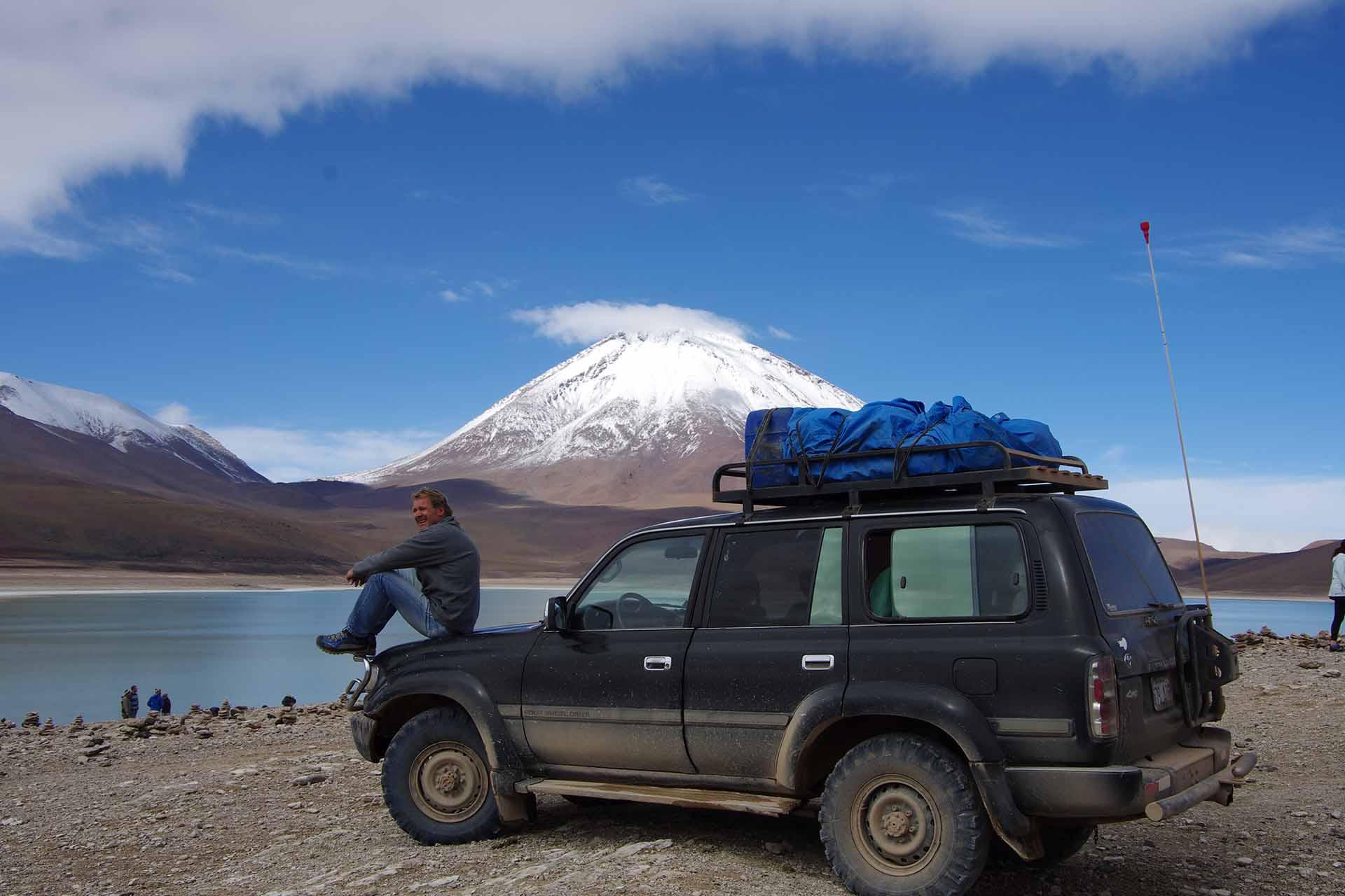 """Vor dem """"Licancabur"""" in Bolivien"""