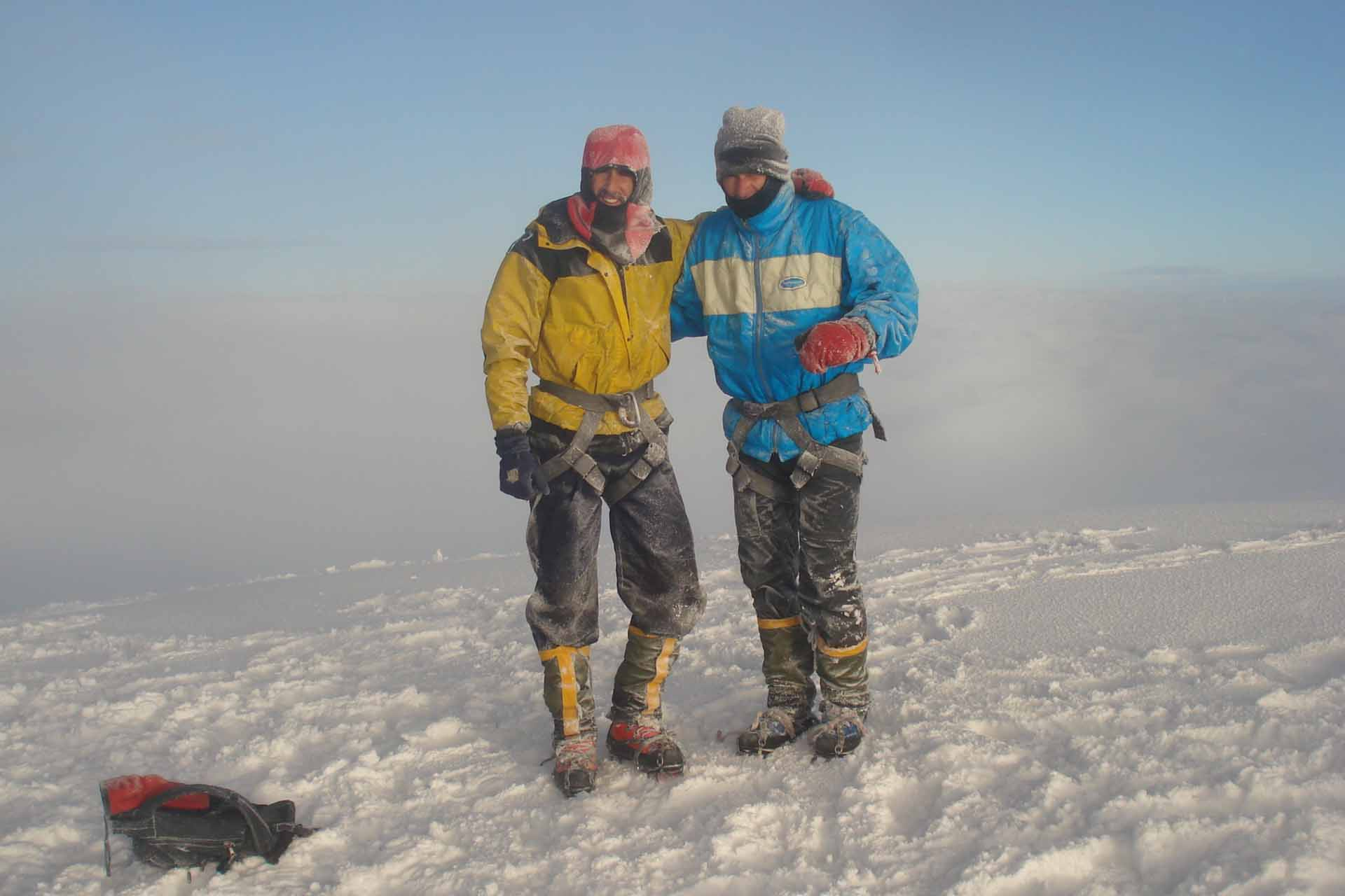"Auf dem ""Cotopaxi"" in Ecuador auf 5.807 Meter Höhe"