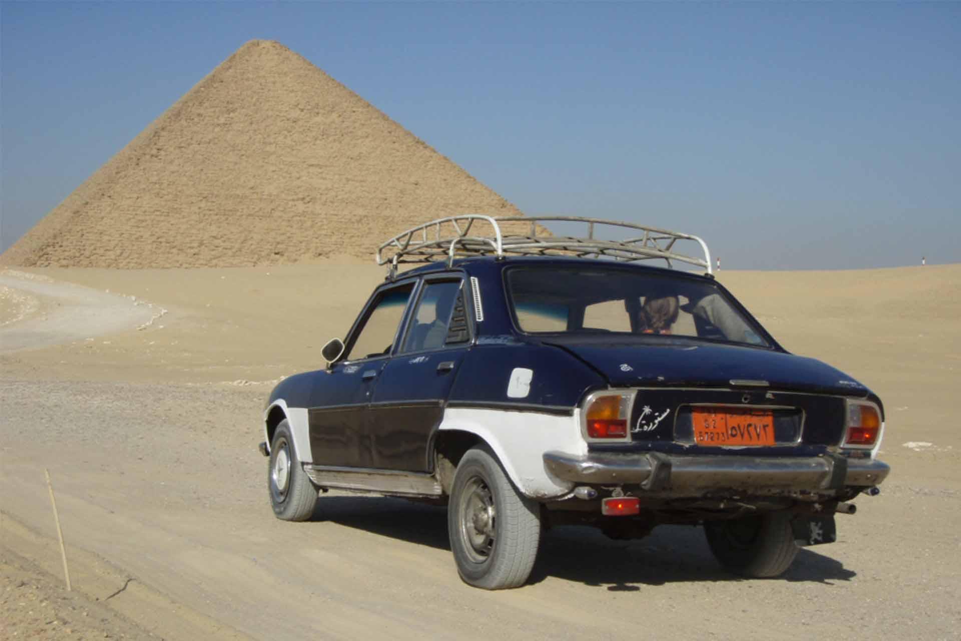 Auf dem Weg zur roten Pyramide