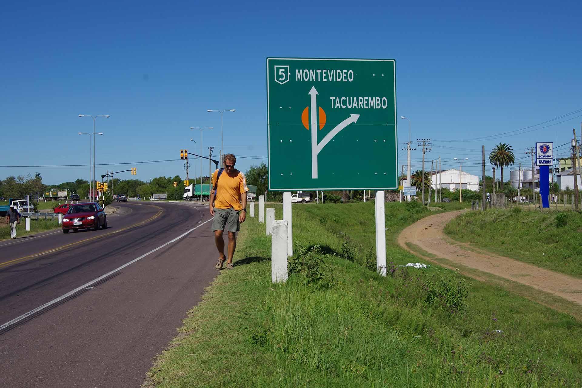 "Wanderung entlang der ""Ruta 5"" in Tacuarembó, Uruguay"