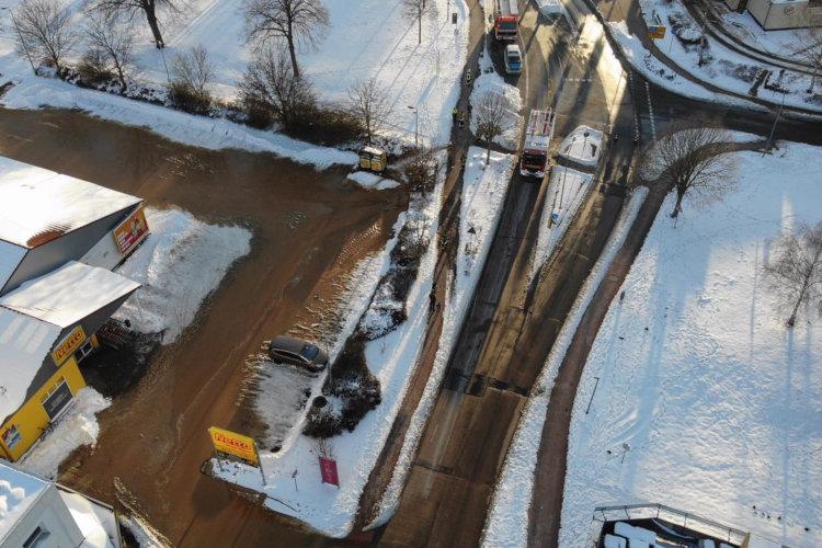 Wasserrohrbruch Industriestraße