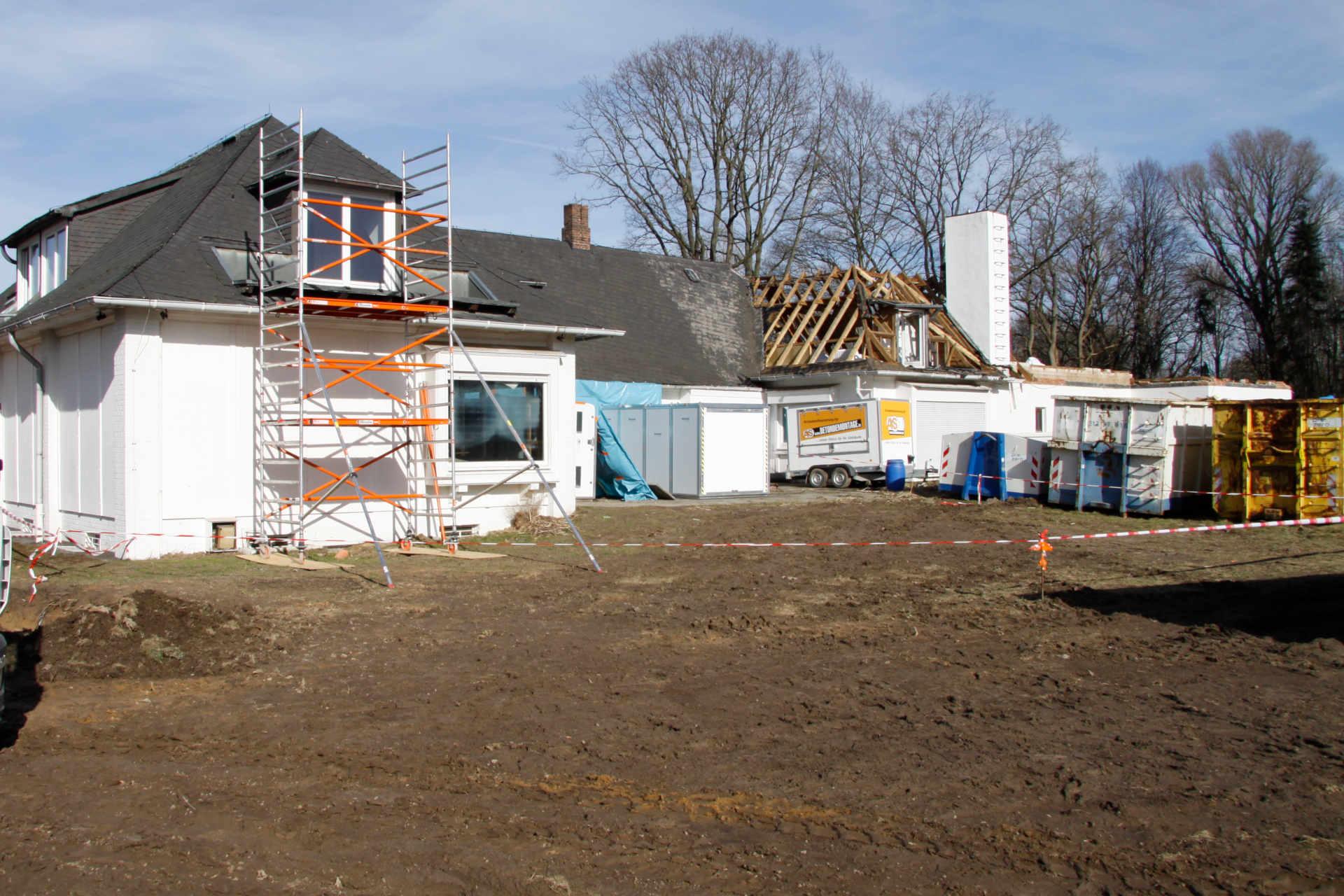 Baustelle Villa Oesterheld