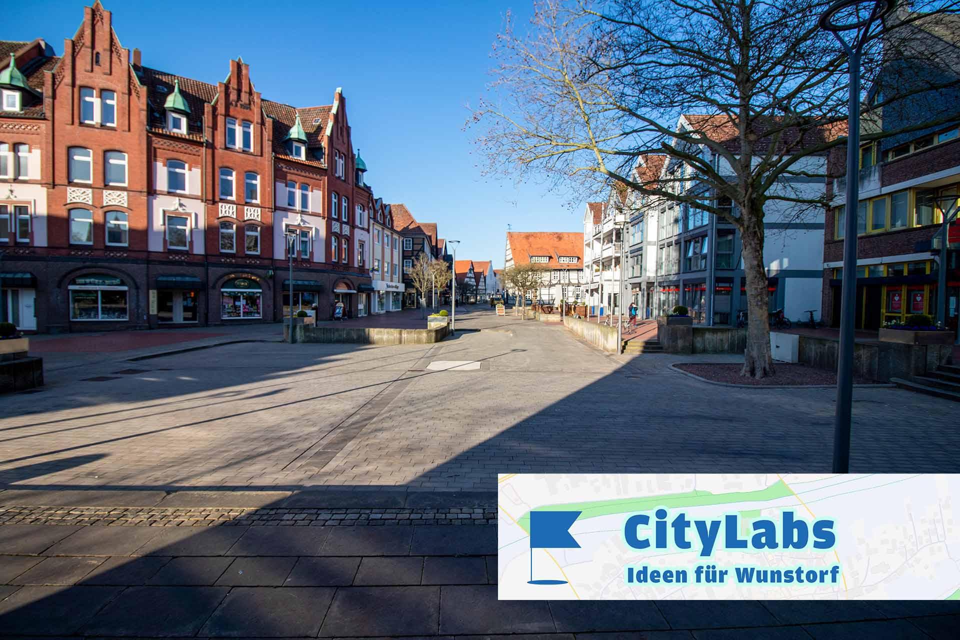 Leere Innenstadt Wunstorf