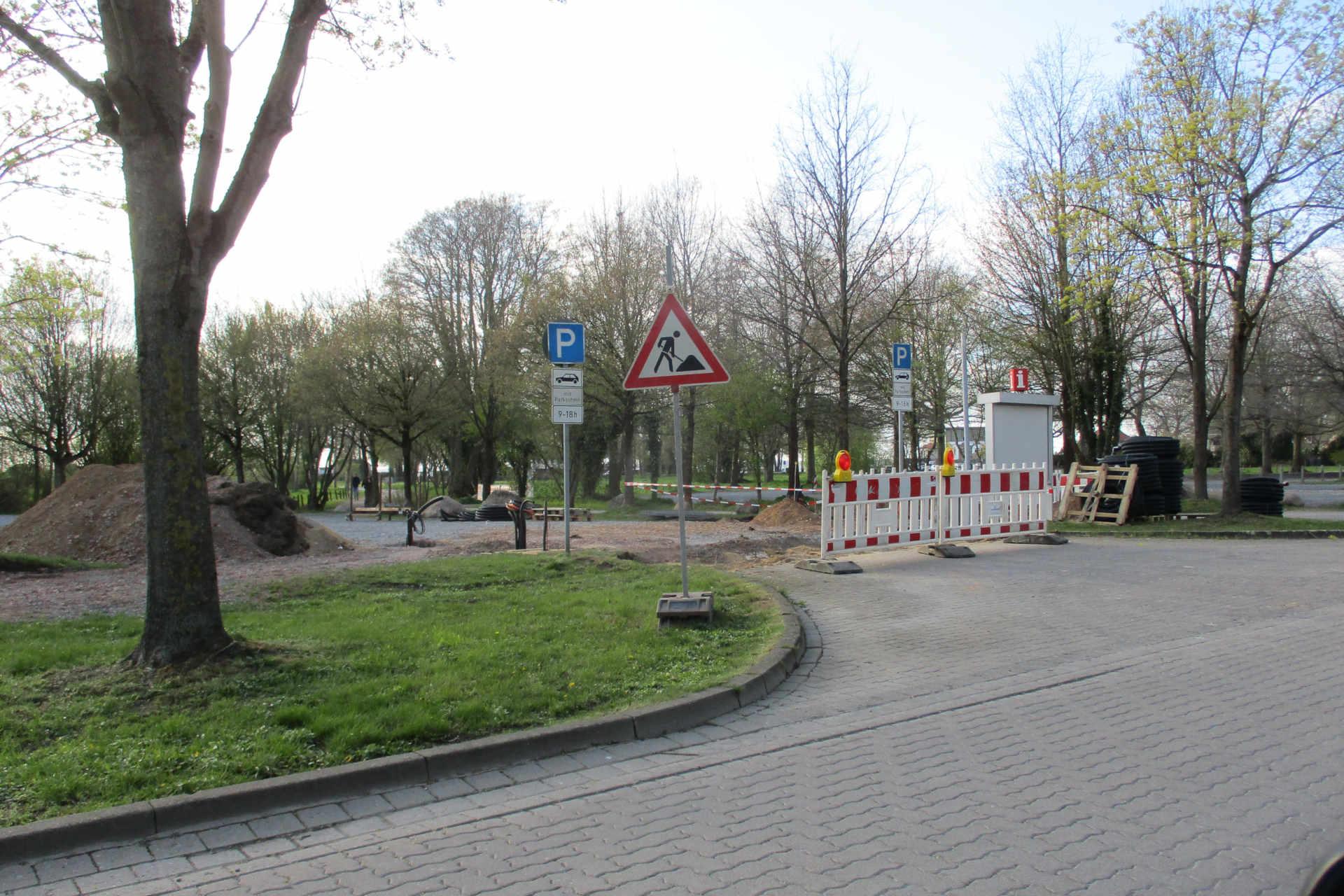 Gesperrter Parkplatz