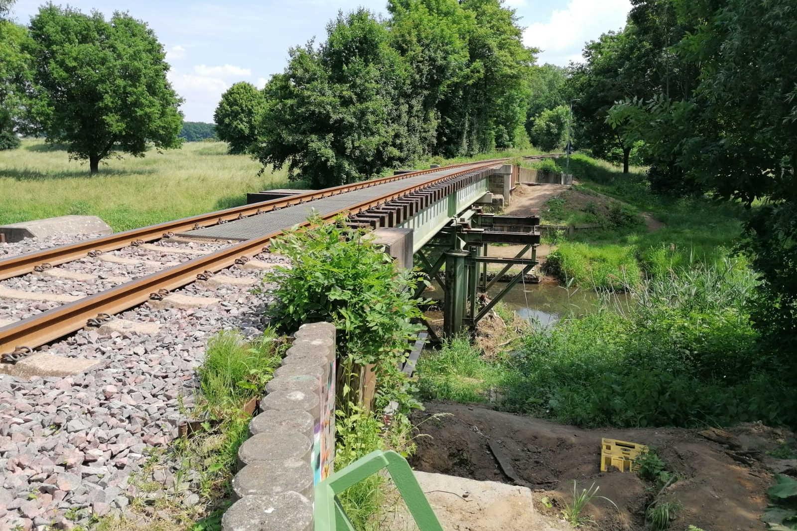 Bauarbeiten OHE-Brücke Westaue