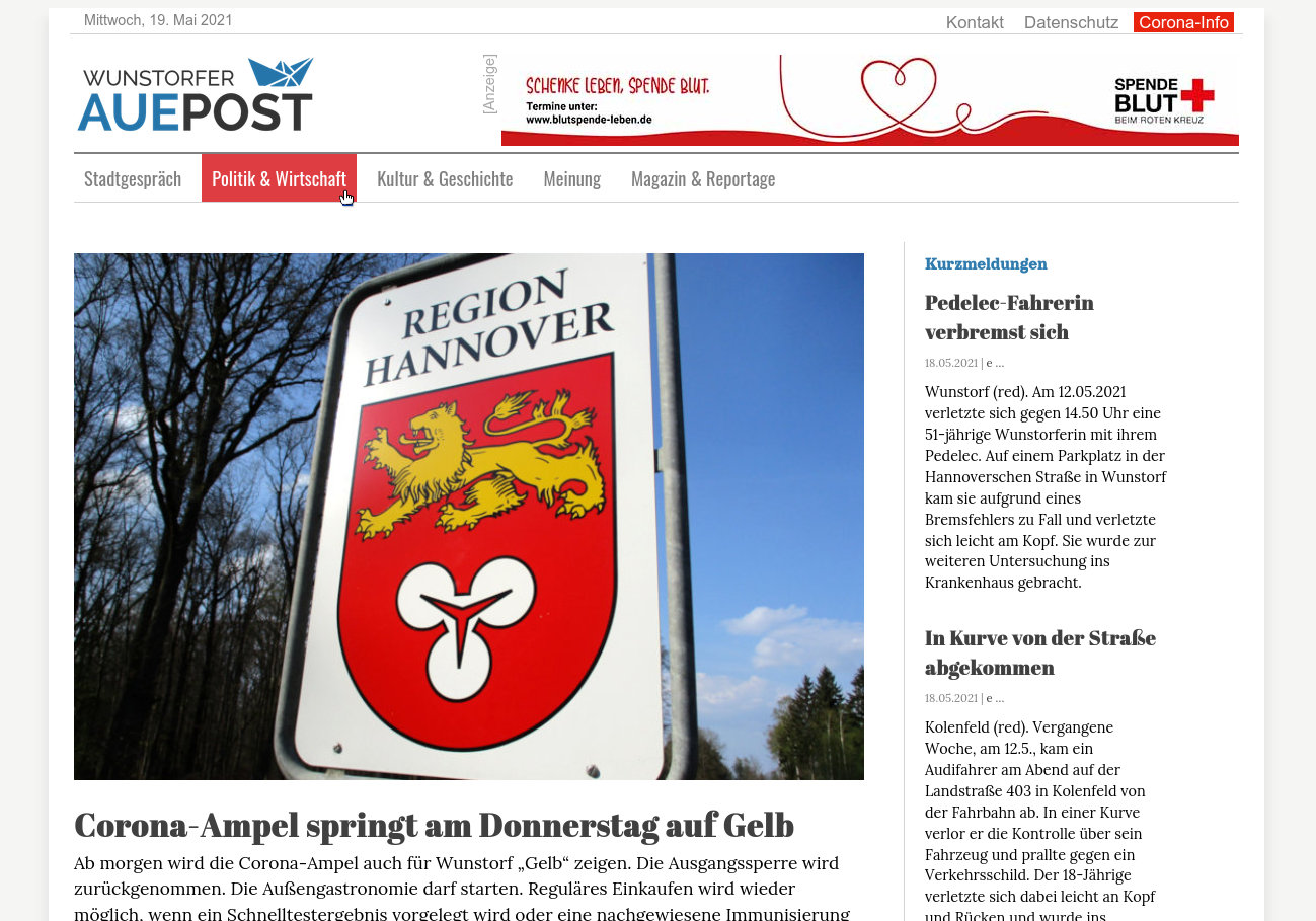 Auepost-Website