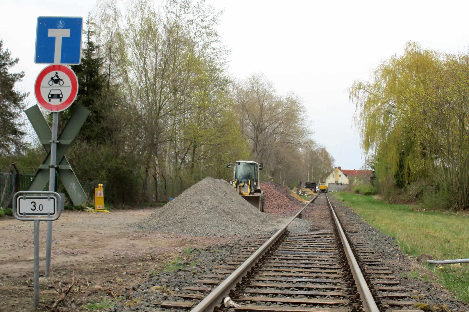 Baustelle Bahnübergang