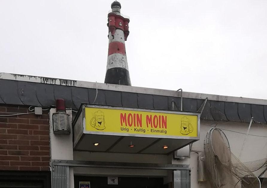 Eingangsschild Moin-Moin