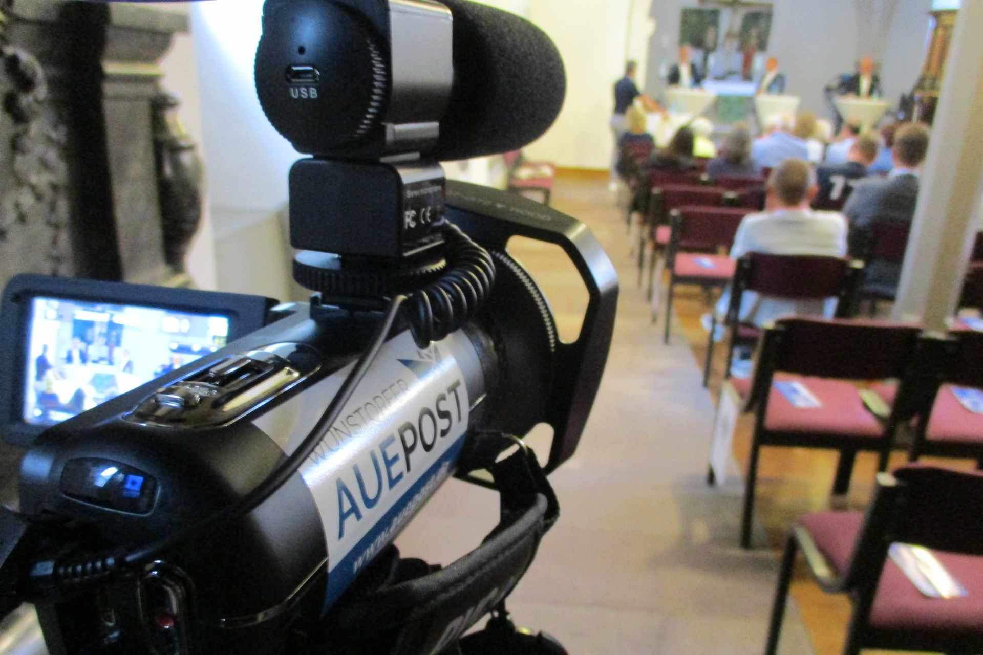 Kameraaufnahme in Stadtkirche
