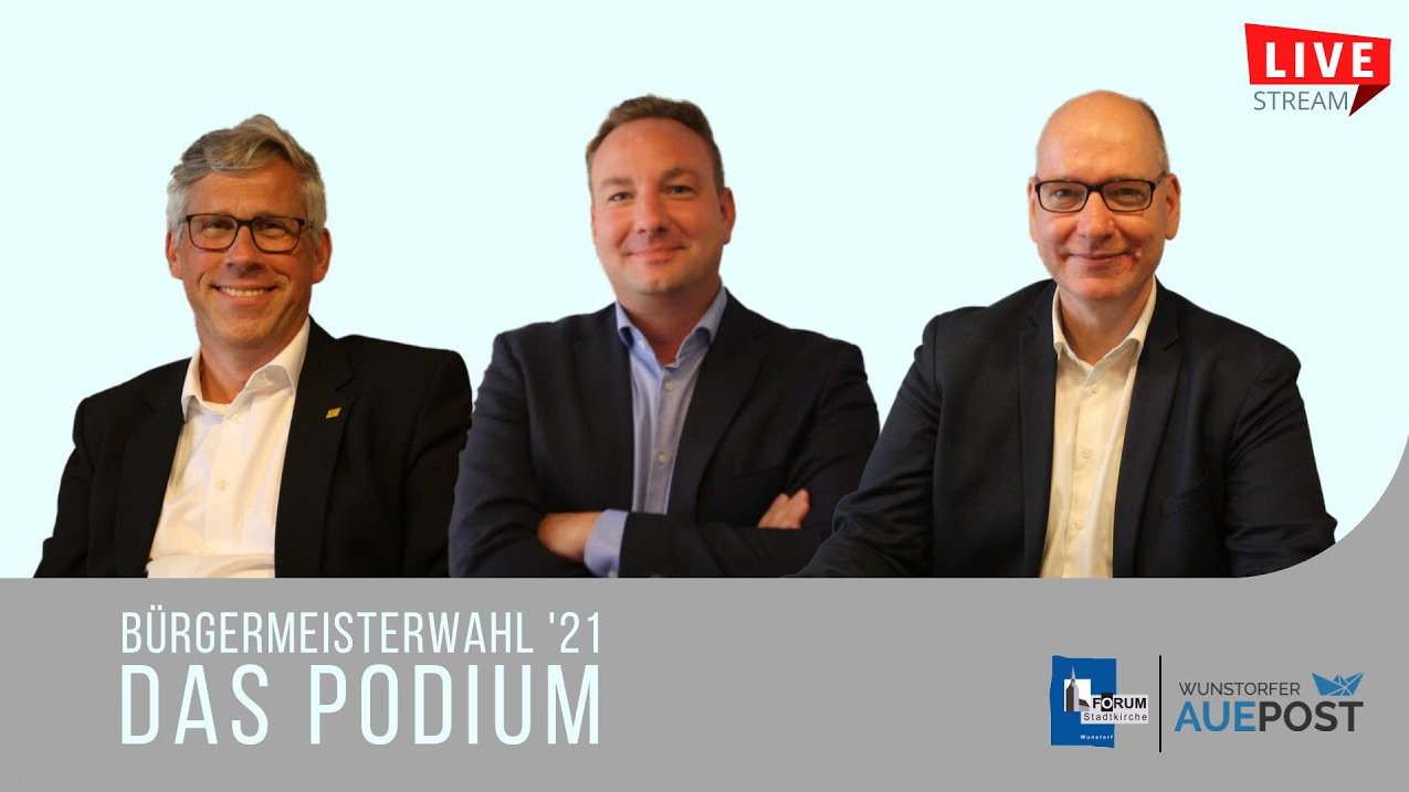 Bürgermeisterwahl 21. Das Podium.