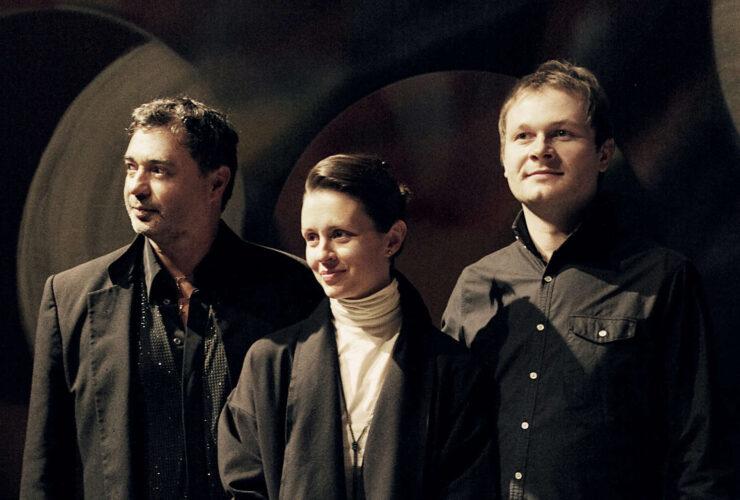 obert Kusiolek Trio mit Elena Chekanova - Anton Sjarov v.l.n.r.
