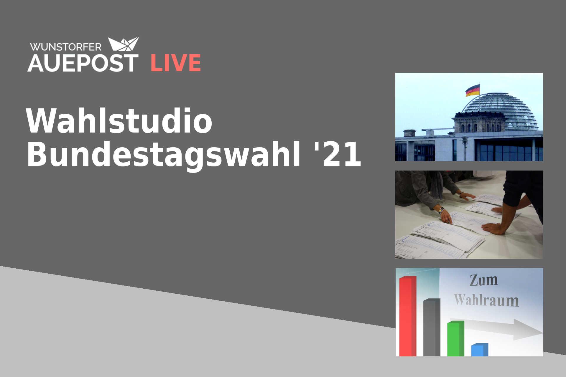 Wahlstudio Bundestagswahl Wunstorf 2021