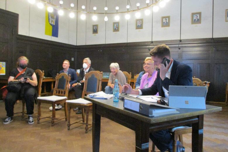 Präsentation Wahlergebnisse Rathaus