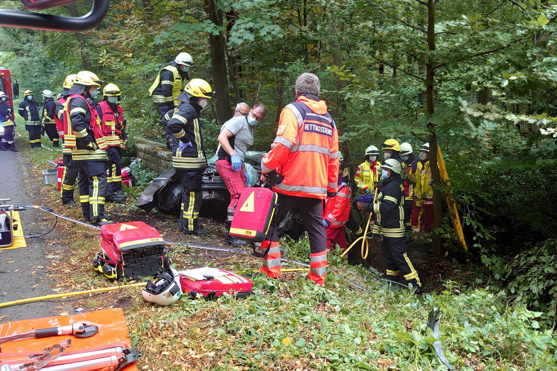 Rettungsdienst am Unfallort